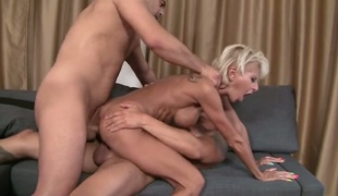 Sabby gets his always hard snake eaten by in advance of she gets fucked in her butt