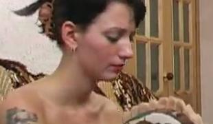 brunette strømper russisk
