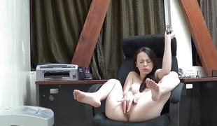 Veronica radke masturbates on web camera at work