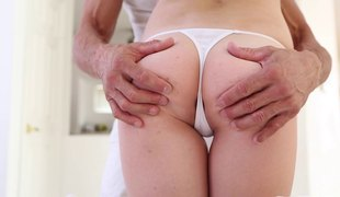 She hires a male masseuse so she can receive a rub and fuck