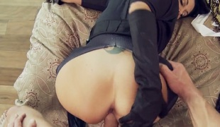 Johnny Sins attacks sinfully sexy Ava AddamsS face hole with his love torpedo