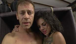 Bonnie Rotten and Valeria Visconti show each inch of their hot bodies to Rocco Siffredi. They shake their butts and bare their sweet tits. Flirtatious sweethearts make man happy
