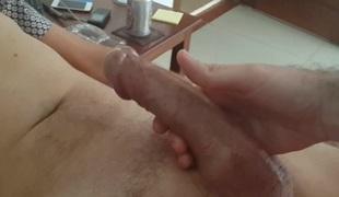 Buddy beats off big British boner to cum discharged