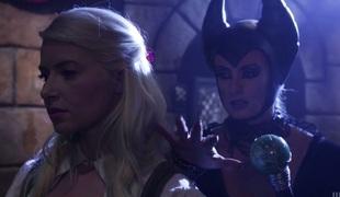 Sweet angel Anikka Albrite licks cunt of merciless whore Maleficent