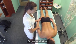 Don in Hot nurse massages patient previous to engulfing and fucking him - FakeHospital