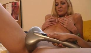 Giant straoons are used to enjoyment hot lesbian babes
