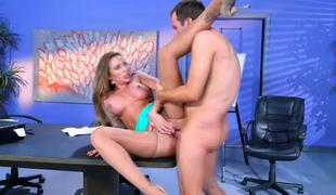 A busty boss Juelz drilled with Jessy Jones huge