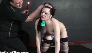 Humiliated serf Isabel Deans pegged and punished