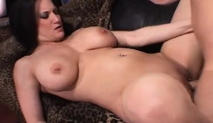 Buxom dark brown housewife Stephanie Wylde is in need of a good fucking