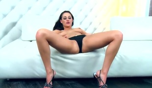 Dana Weyron spends her sexual energy alone with the help of toy