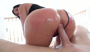 Bill Bailey has unforgettable anal sex with Shay Fox with juicy knockers after that babe gives fellatio