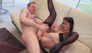 Mark Wood cant await any longer to stick his cock in excited as hell Dana DeArmonds cornhole after this babe gives unfathomable oral-service