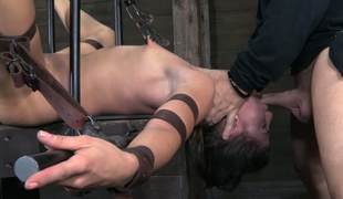 Belted whore Mia Gold is fucked and punished in the basement