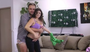 Kimy Blue rides the dick and enjoys every moment of the banging