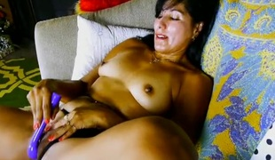 Mommy and her vibrating sex tool receive it on