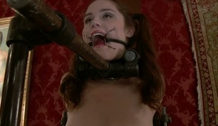 Misery from a group torture liberates wanton slut