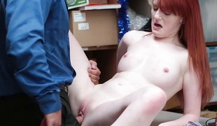 Shoplyfter - Red Headed Wench Offers Pussy For Stealing