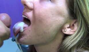 Sexy little Alison sucks, toys and receives nailed in advance of taking a mouthful