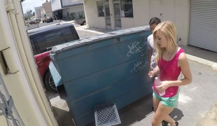 Sinful chick Alexa Grace gets drilled near the garbage bin