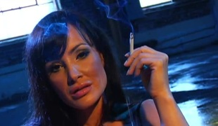 Julia Ann and Lisa Ann receive to finger and take up with the tongue their tight twats