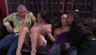 Wife swapping with breasty Rachel Roxxx and Rachel Starr
