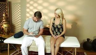 Hot Kenzie Taylor gets a tricky spa