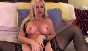 Blonde Webcam Girl Dances And Masturbates