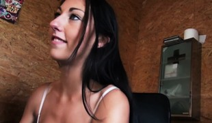 Pickedup euro squirts after covered with cum