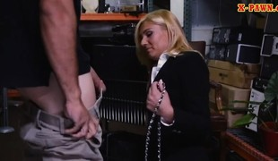 Hawt blonde milf screwed in storage room
