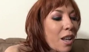 Redhead Mommy is begging the dick