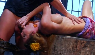 Kayla Paige asks Evan Stone to shove his rock hard cock in her mouth