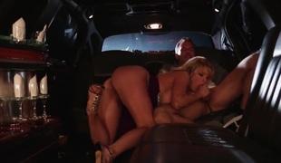 Stormy Daniels gets her throat stretched by thick stiff ram rod of horny fuck buddy