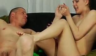 brunette blowjob russisk