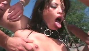 Torrid porn bitch Jayna Oso fucked brutally in gangbang