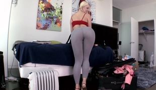 Wet ass white girl showing pussy