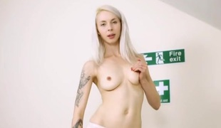 Hawt JOI and striptease from the hot nurse