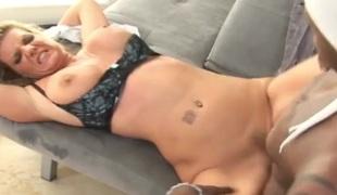 Wonderful white slut destroyed by black cock