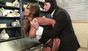 James Deen buries his hard snake in amazingly hot Madison Ivys throat